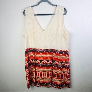Plus Size Anthropologie City Triangles Romper 22